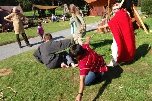 Glima er vikingane sin trening og leik.