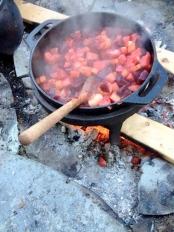 Vikingane var glad i å koke maten. Det ga meir smak og maten vart drygare.